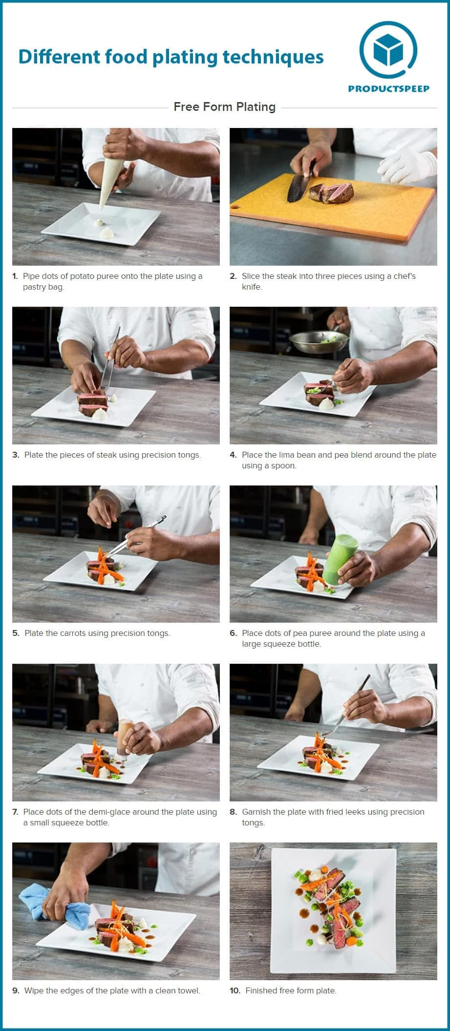 Different food plating and presentation techniques
