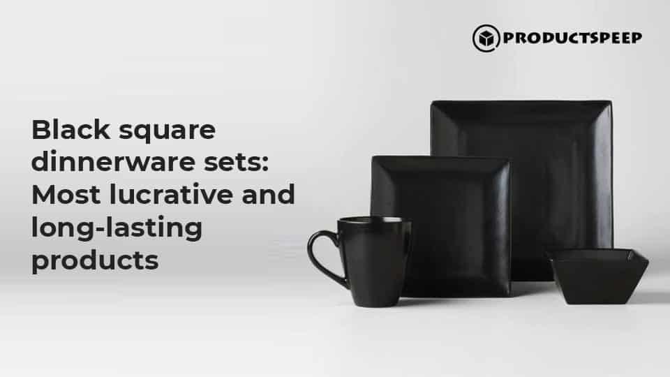 Black square dinnerware sets