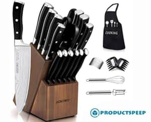 Stainless Steel Knife Set with Block - Essential cooking tools and their functions