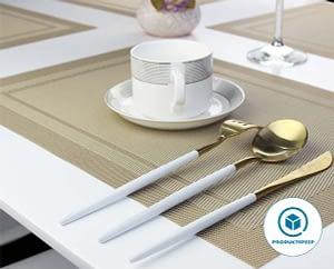 Heat-resistant Plastic Table Mats Set of 4