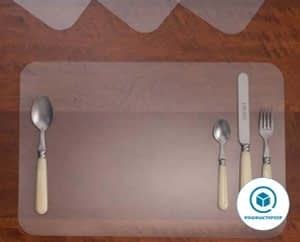 Clear placemats for table -Washable Dining or Kitchen Table Mat