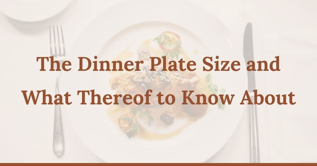 Dinner Plate Size