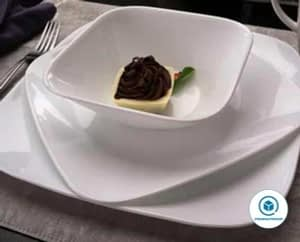 Corelle Square 16-Piece Dinnerware Set, Pure White, Service for 4 - Corelle square dinnerware set