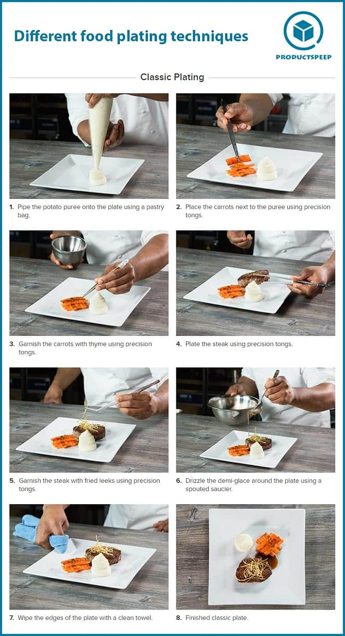 classical food plating and presentation techniques