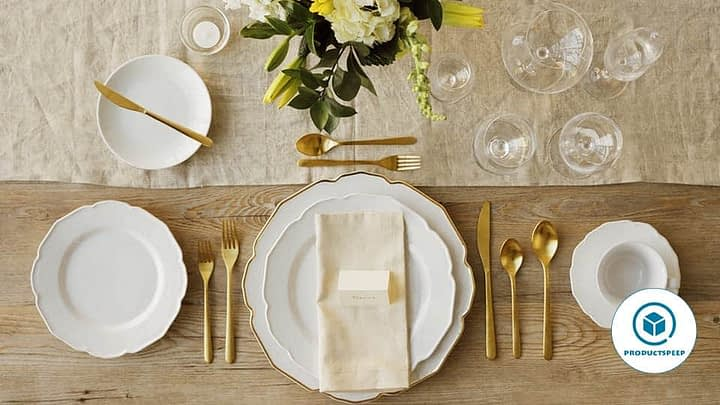 Five-course table setting