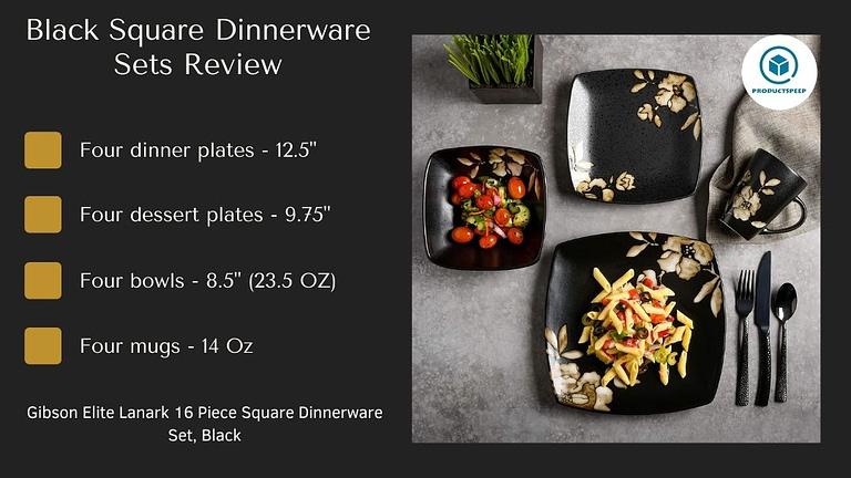 gold and black dinnerware set