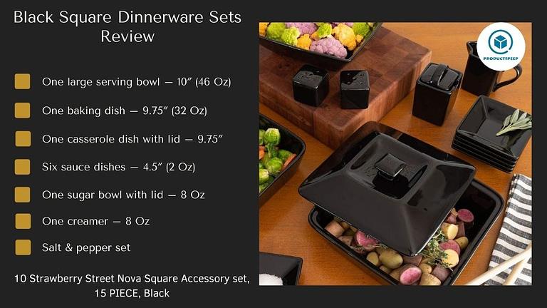 nova black square accessory set
