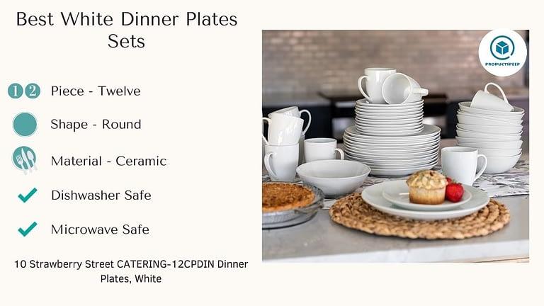 Best white dinner plate sets - 10 Strawberry Street Dinner Plates