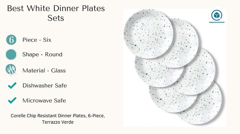 Best white tableware plates sets - Corelle Chip Resistant Dinner Plates set