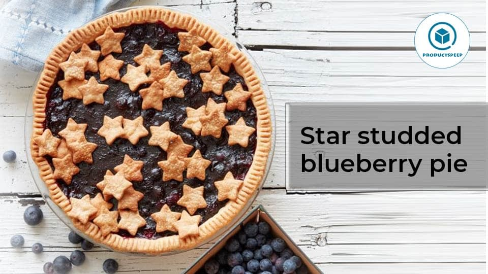 Recipes – Star studded blueberry pie – American food
